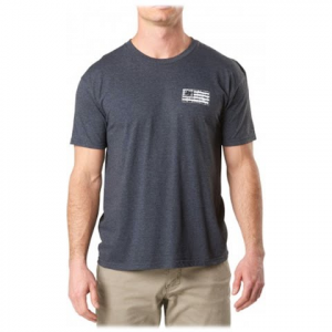 5 . 11 Tactical Men ' S Brick And Mortar Tee - Charcoal Heather