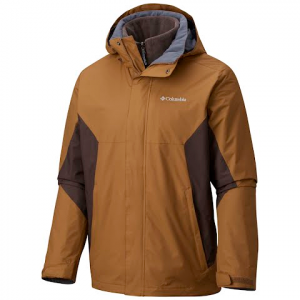 Columbia Men ' S Eager Air Interchange 3 - In - 1 Jacket ( Extended Sizes ) - Trail / Buffalo