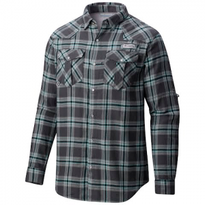 Columbia Men ' S Pfg Beadhead Flannel Long Sleeve Shirt - Grill