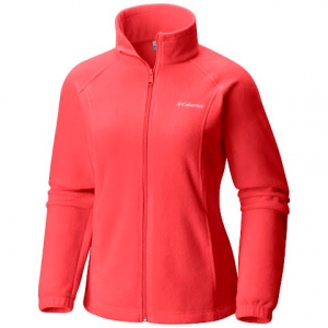Columbia Women ' S Benton Springs Full Zip Fleece Jacket - Red Coral