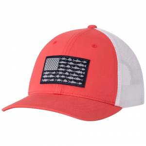 Columbia Youth Snap Back Ball Cap - Sunset Red / Fish Flag