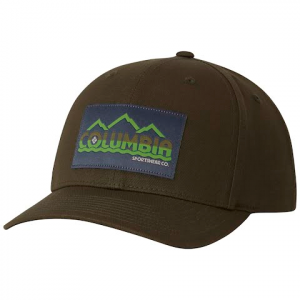 Columbia Trail Essential Snap Back Hat - Peatmoss Columbia Peak