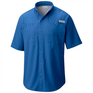 Columbia Men ' S Tamiami Ii Shortsleeve Shirt ( Tall ) - Vivid Blue