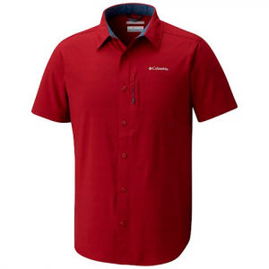 Columbia Men ' S Cypress Ridge Short Sleeve Shirt - Red Element