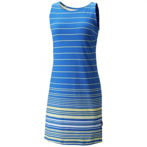 Columbia Women ' S Harborside Knit Sleeveless Dress - Blue Macaw Stripe