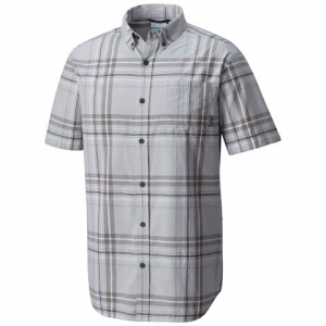 Columbia Men ' S Rapid Rivers Ii Short Sleeve Shirt ( Tall Extended Sizes ) - Columbia Grey Large