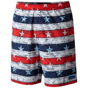 Columbia Men ' S Big Dippers Water Short - Collegiate Navy Stars And Stripes