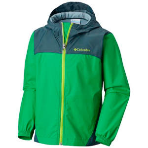 Columbia Boys Youth Glennaker Rain Jacket - 346fusegrn / Myst