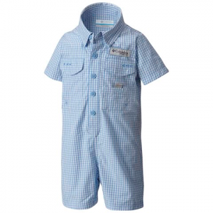 Columbia Youth Infant Bonehead Romper - White Cap Gingham
