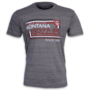 Blue 84 Mens University Of Montana ' Griz Nation ' Dyed Marble S / S Tee - Titanium