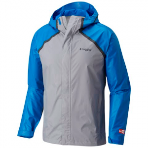 Columbia Men ' S Pfg Odx Hybrid Jacket - Super Blue / Columbia Grey