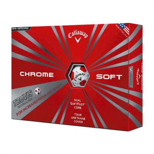 Callaway Chrome Soft Truvis Golf Balls ( 18 Pack ) - White / Red