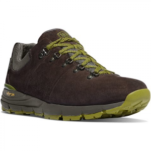 Danner Men ' S Mountain 60 Low Hiking Shoe - Dark Brown / Lichen