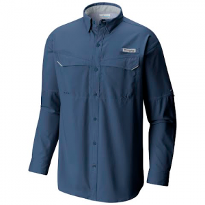 Columbia Men ' S Pfg Low Drag Offshore Long Sleeve - Night Tide
