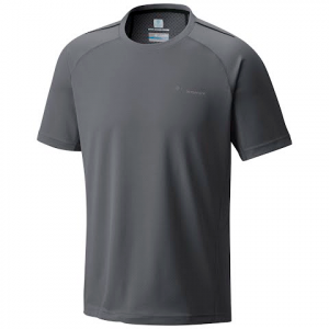Columbia Men ' S Titan Trail Short Sleeve Shirt - Graphite / Black