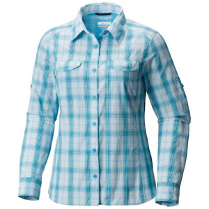 Columbia Women ' S Silver Ridge Lite Plaid Long Sleeve Shirt - Blue Sky Plaid