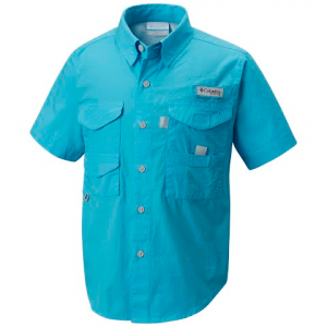 Columbia Boy ' S Youth Bonehead Short Sleeve Shirt - Riptide