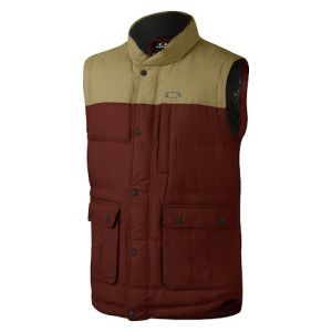 Oakley Men ' S Drifter Down Vest - Fired Brick