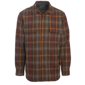 Woolrich Men ' S Bering Wool Shirt : Modern Fit - Dark Walnut