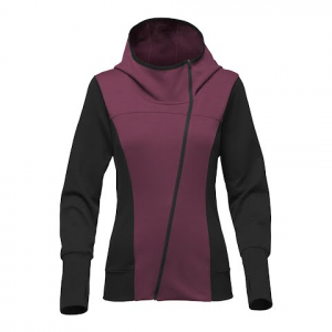 The North Face Women ' S Train N Go Full Zip Sweater - Crushed Violets / Tnf Black