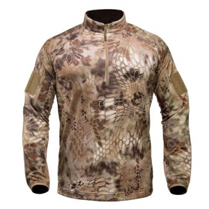 Kryptek Apparel Youth Valhalla Long Sleeve Zip - Kryptek Highlander