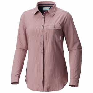 Columbia Women ' S Bryce Canyon Stretch Long Sleeve Shirt - Nocturnal Texture Plaid