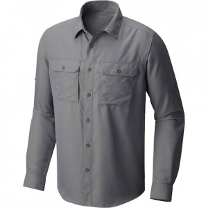 Mountain Hardwear Men ' S Canyon Long Sleeve Shirt - Manta Grey