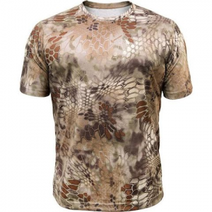 Kryptek Apparel Men ' S Hyperion Short Sleeve Crew Shirt ( Extended Sizes ) - Kryptek Highlander