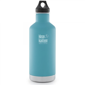 Klean Kanteen 32oz Classic Vaccum Insulated Water Bottle With Loop Cap - Quiet Storm