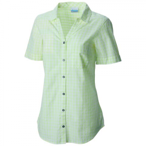Columbia Women ' S Wild Haven Short Sleeve Shirt - Neon Light