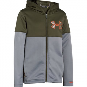 Under Armour Boy ' S Youth Ua Storm Caliber Hoodie - Greenhead / Realtree Ap Xtra