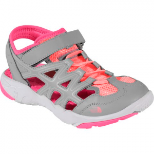 The North Face Youth Hedgehog Sandals - Q Silver / Cha Cha Pink