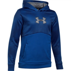 Under Armour Youth Boy ' S Ua Storm Armour Fleece Mid Logo Hoodie - Royal