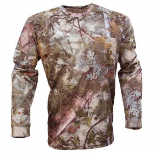 King ' S Camo Men ' S Hunter Series Long Sleeve T – Shirt ( Extended Sizes ) – Mountain Shadow