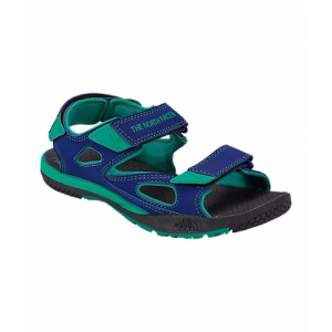 The North Face Youth Jr Base Camp Coast Ridge Sandals - Marker Blue / Blarney Green