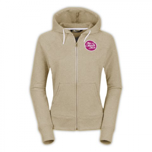 The North Face Women ' S Continuous Logo Patch Fullzip Hoodie - Oatmeal