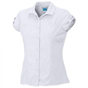 Columbia Women ' S Sandy Dandy Short Sleeve Shirt ( Plus Sizes ) - 622burnthenna