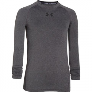 Under Armour Boy ' S Ua Heatgear Armour Long Sleeve Fitted Shirt - Carbon Heather