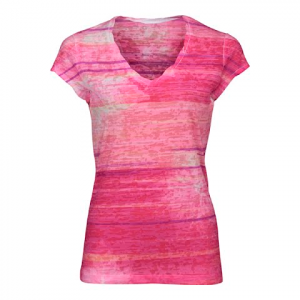 The North Face Women ' S Tadasana Burn - Out Top - Society Pink