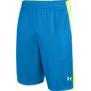 Under Armour Mens Ua Aint Nuttin Basketball Shorts - Blue / Hi - Vis Yellow