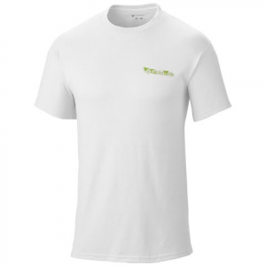Columbia Mens Pfg Elements Ii S / S Tee - White 101