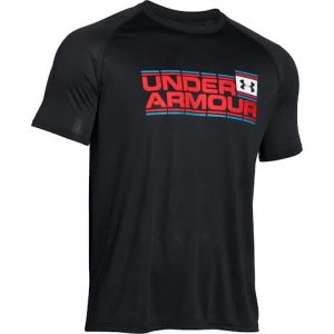 Under Armour Men ' S Tech Wordmark Short Sleeve T - Shirt - Navy Squadron