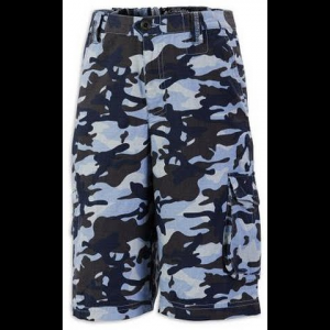 Columbia Youth Boy ' S Fit To Explore Cargo Short - Copen Blue Camo