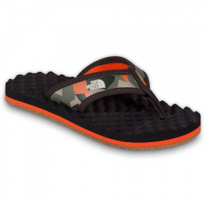 The North Face Youth Boys Base Camp Flip Flop - Demitasse Brown / Red Orange