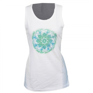 Columbia Women ' S Ocean Swirl Medallion Tank - White