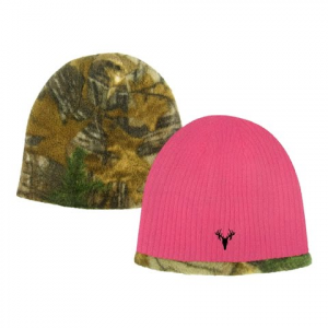 Hot Shot Youth Girls Acrylic Knit Reversible Beanie – Realtree Xtra