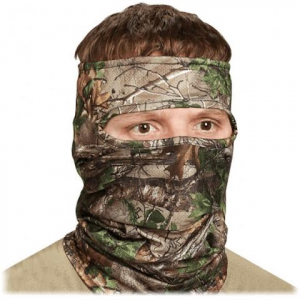 Hunter Specialties Scent - A - Way Silver Light2eight Spandex 3 / 4 Face Mask - Silver
