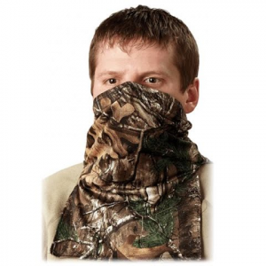 Hunter Specialties Scent - A - Way Silver Lightweight Spandex Neck Gaiter 1 / 2 Mask - Realtree Xtra