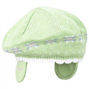 Columbia Youth Toddler Powder Princess Beret - Spring Green / White