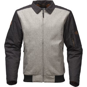 The North Face Men ' S Barstol Aviator Jacket - Monument Grey / Tnf Black